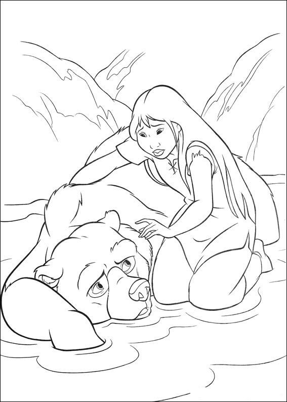 happy feet coloring pages | brother bear 2 coloring page ... - Brother Bear Moose Coloring Pages