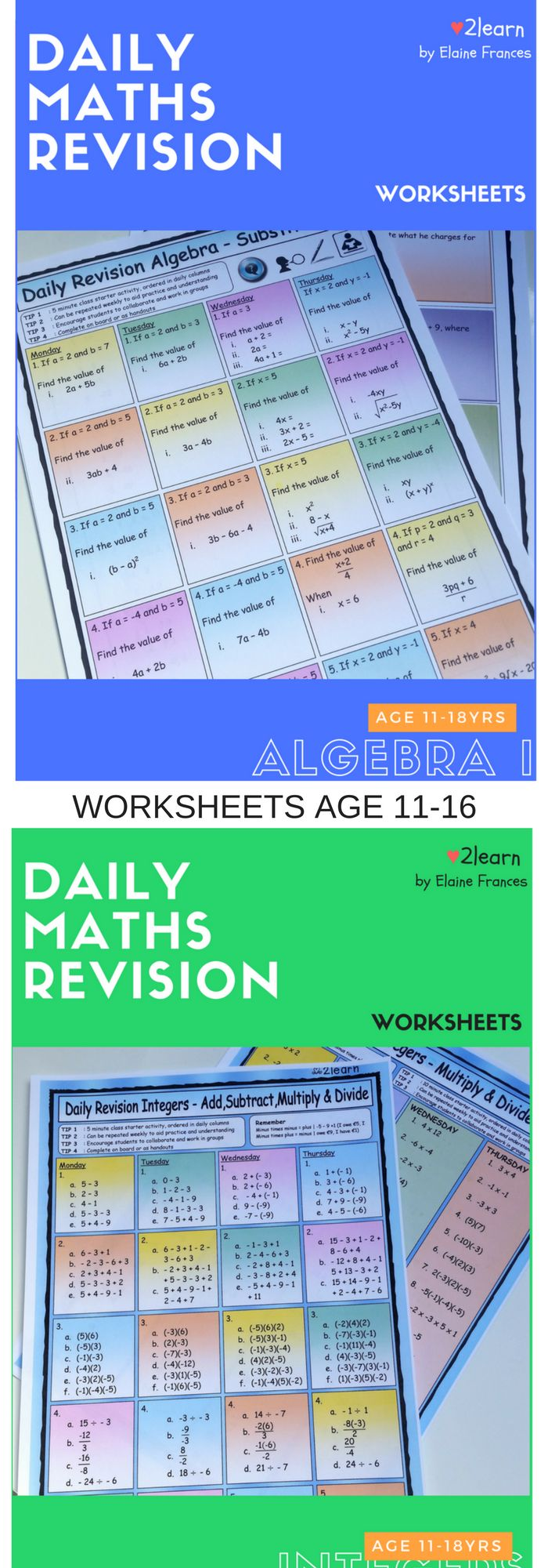 The 25 best math magician ideas on pinterest memorizing daily revision worksheets set out in daily columns in a bright interactive format to encourage students gamestrikefo Gallery