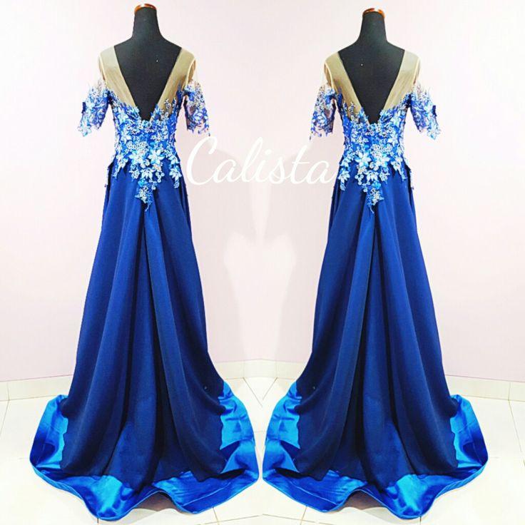 Navy and royal blue dress