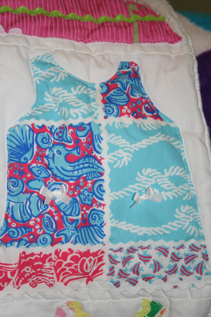 39 best lilly quilts images on pinterest lilly shift dress baby blanket made with lilly pulitzer fabric