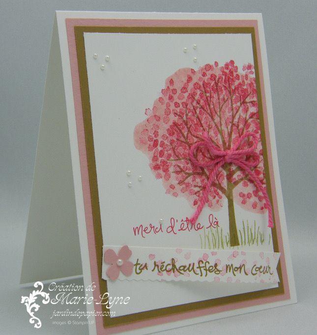 Effet aquarelle et arbre protecteur - Scrapbooking Stampin Up Canada   Cartes d'anniversaire et d'invitation   Faire part mariage   Jardin de Papier