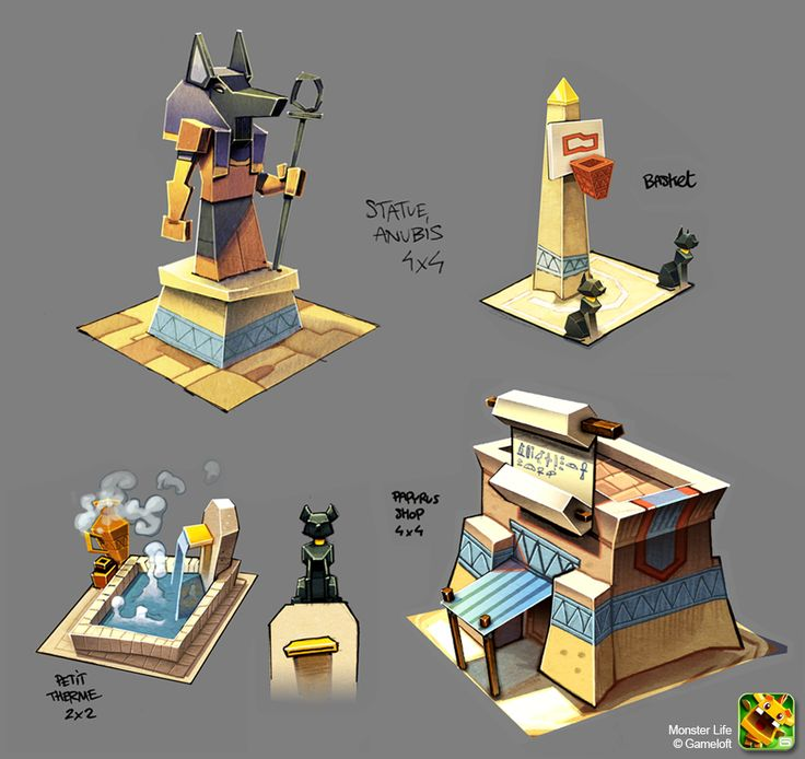 Monster Life - Egypt - Bunch of stuffs by joslin.deviantart.com on @deviantART