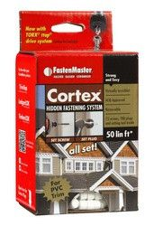 """2"""" Fastenmaster Cortex For Azek Smooth Pvc Trim Boards, White, 50 Lineal Feet (75 Screws & 100 Plugs)"""