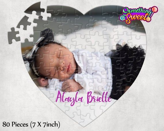 Heart Personalized I Love You Picture Puzzle 80 Pieces