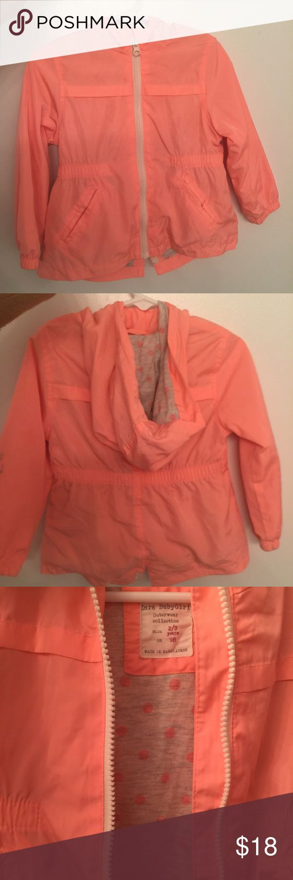 Toddlers Zara Coral Lightwear Jacket Coral Jacket with 2 pockets on the front Zara Jackets & Coats Utility Jackets