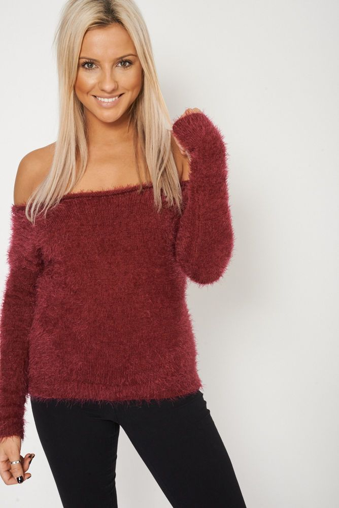 PLAIN FLUFFY LONG SLEEVES SWEATER/JUMPER EX-BRANDED This ones in the sale!!