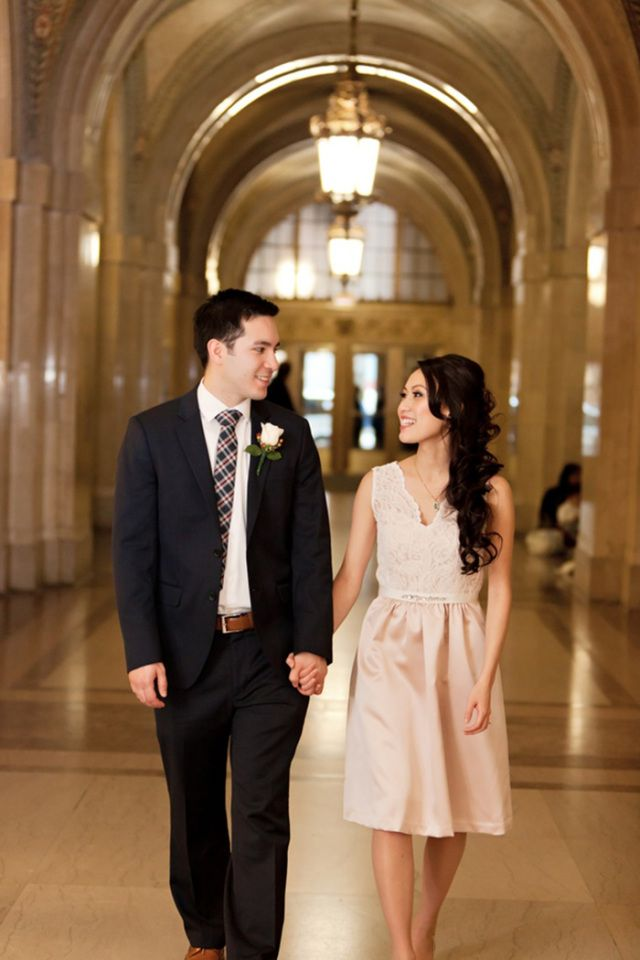 Kim And Sam Run Down To Chicago City Hall For A Quick But Super Sweet Ceremony Two