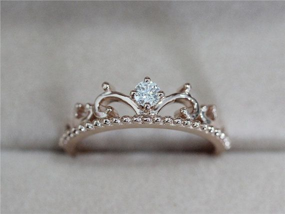 Perfect for a princess at heart! Natural Diamond Ring Wedding Band Diamond Band by AbbyandWills