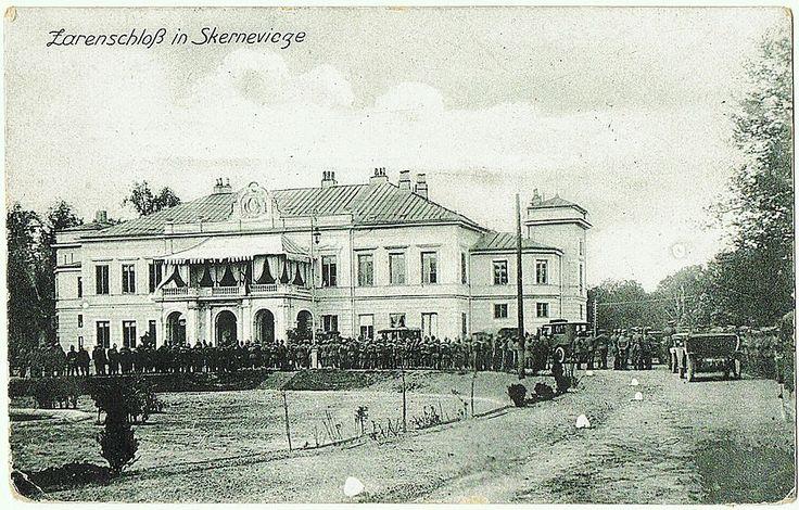 "Skierniewice Palace in Poland ~ Tsar Nicholas ll Family Residence. Vintage Postcard 1917.  ""AL"""