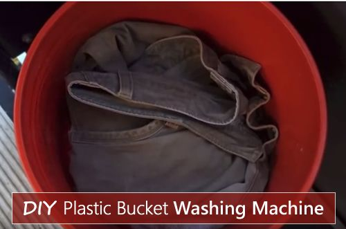 DIY Plastic Bucket Washing Machine - do your laundry using 2 5 gallon plastic buckets... #diy #homesteading #offgrid