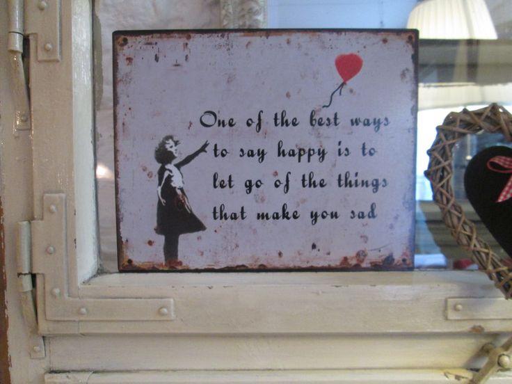 """Wanddeko - Bezauberndes Schild """"Happiness"""" - ein Designerstück von Mein-kleines-Landhaus bei DaWanda"""