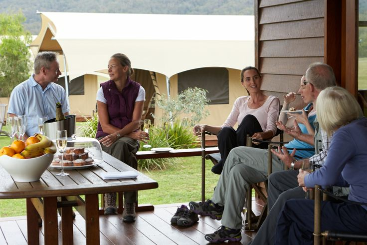 Relaxing at Spicers Canopy - part of the Scenic Rim Trail Experience