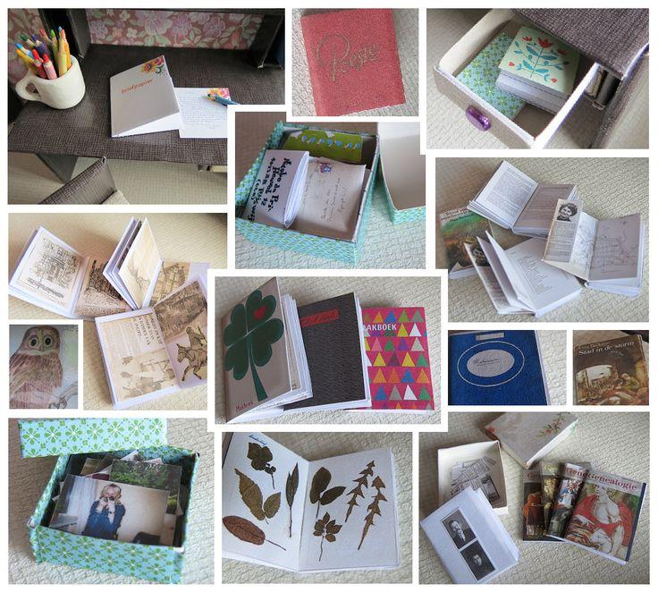 Slaapkamergeluk briefpapier plakboek thea beckman herbarium genealogie miniaturen