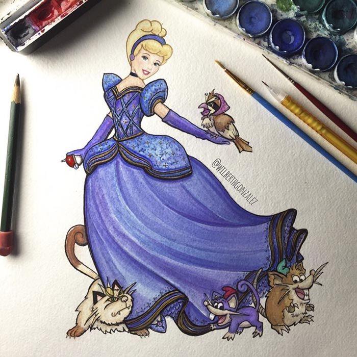 Cinderella [feat. Rattata as Jaq, Raticate as Gus, Meowth as Lucifer & Pidgey] (Mash-Up by WilberthGonzalez @Instagram) #Cinderella