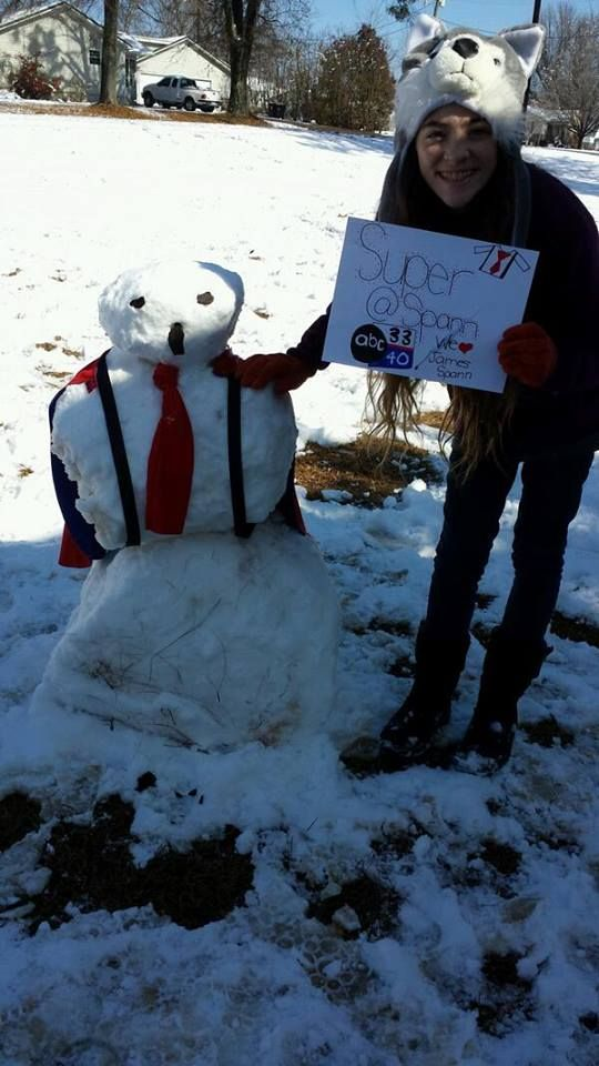 JAMES SPANN SNOWMAN    ...      WEATHERMAN AT ABC, BHAM, AL