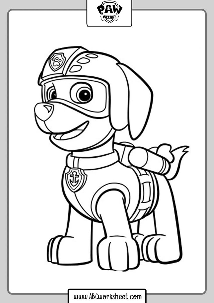 Printable Paw Patrol Drawings Coloring in 2020 | Paw ...