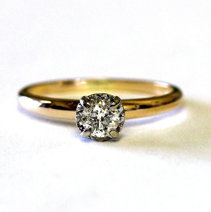Awesome  0.32 ct Round cut diamond Solitaire14k Yellow Gold Engagement Ring  #GoldJewellery17 #Solitaire