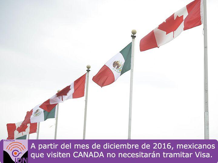 El Presidente Peña Nieto, el gobierno de Canadá anunció que elimina el requisito de visa a visitantes mexicanos. El Presidente Peña Nieto lleva a cabo una visita de dos días al país norteamericano en el mantendrá reuniones de trabajo bilaterales con el Primer Ministro, Justin Trudeau. El trámite de visa dejará de operar a partir de diciembre de este año.