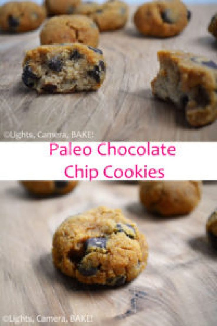 Paleo Chocolate Chip Cookies - A healthy - grain free, gluten free, dairy free, refined sugar free - twist on the traditional treat. Click the photo for the #recipe . #Paleo #Cookies