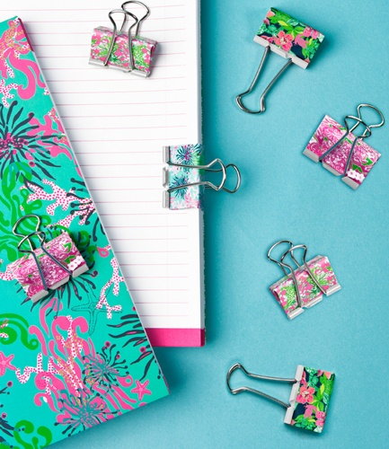 Lilly Pulitzer Binder Clips -- need I say more? I just bought these & can't wait to use them this semester! Makes grading a little brighter :)
