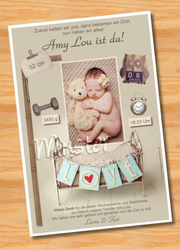 13 besten danksagung geburt bilder auf pinterest danksagung geburt babys und dankeskarte geburt. Black Bedroom Furniture Sets. Home Design Ideas