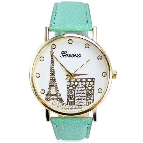 $3.75 Geneva Women Diamond Quartz Watch with Golden Case