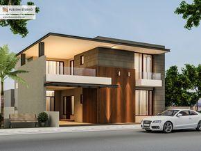 Echa un vistazo a este proyecto @Behance: u201c500 Yards House Elevationu201d https://www.behance.net/gallery/41376087/500-Yards-House-Elevation
