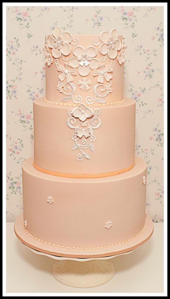 Elegant Peach Wedding Cake SOFT PEACH Pinterest