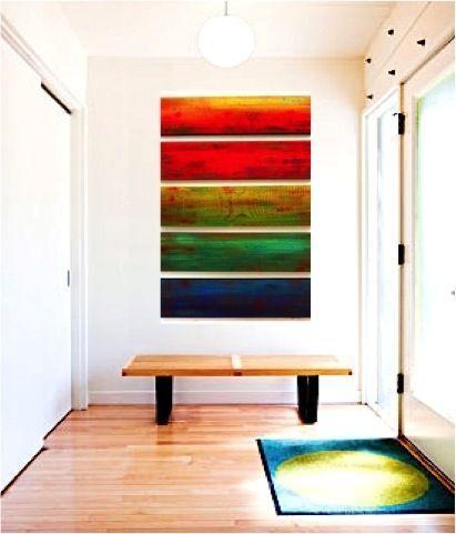 Custom Made Solidarity In 5 Original Abstract Custom Wood Wall Panel Wall Sculpture | red yellow green blue | modern wall art | modern wall sculpture | contemporary artwork