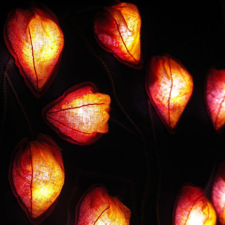 Светящаяся сумка «Оранжевые фонарики»