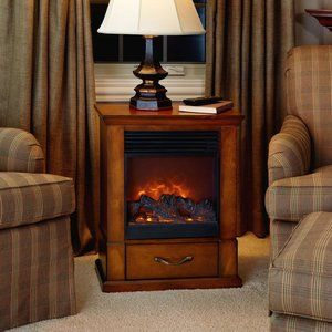 Small Fireplace With 1500w Heating Capabilities Basement