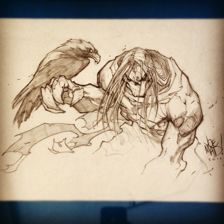 Darksiders promo art by Joe Madureira