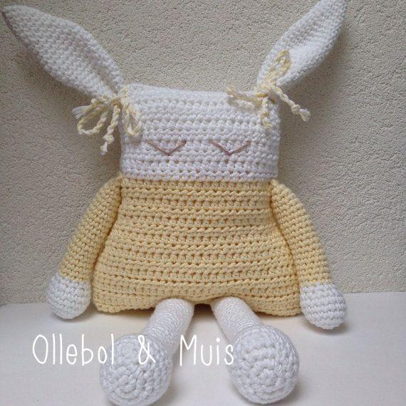 Gehaakt konijn konijn decoratie voor kinderkamer door Ollebol