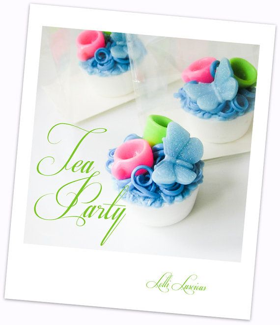 AD: Tea Party (Alice in Wonderland) Lolli Soap Tart ... adorable party, wedding and shower favors.