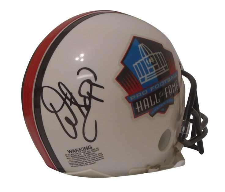 "Warren Sapp Autographed Pro Football Hall of Fame Riddell Mini Football Helmet, Proof. Calvin Johnson Signed Pro Football Hall of Fame Riddell Mini Football Helmet w/ ""Megatron"" Nickname Inscription, Detroit Lions, Proof  This is a brand-new custom Calvin Johnson autographed Pro Football Hall of Fame logo photo Riddell mini football helmet featuring ""Megatron"" nickname inscription.  Calvin signed the helmet in black pen. Check out the photo of Calvin Johnson signing for us. ** Proof photo is…"