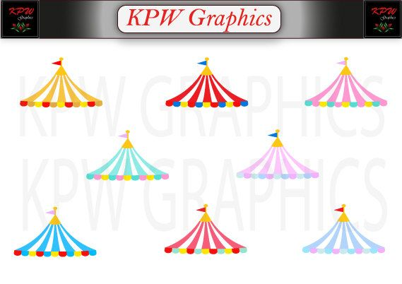 Circus Carnival Tent Top Set 1 in PNG (300ppi) format, Personal & Small Commercial use by KPWgraphics on Etsy