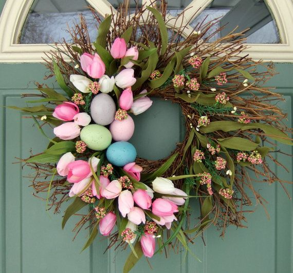 Love this! #easter #spring door wreath