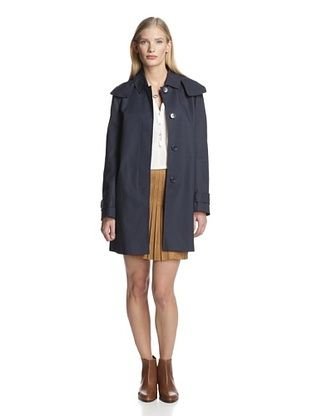 76% OFF French Connection Women's Catch Hooded Coat (Nocturnal/Holiday Crush)