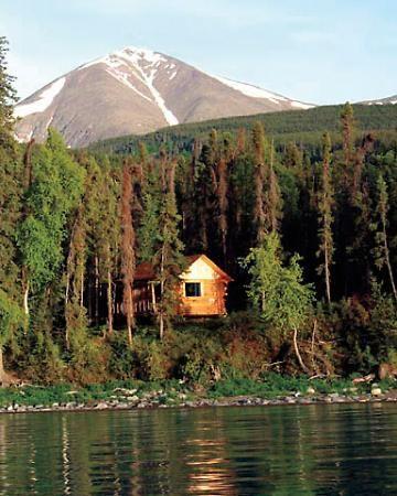 nestling into a cozy, secluded lodge in Kenai Peninsula, Alaska