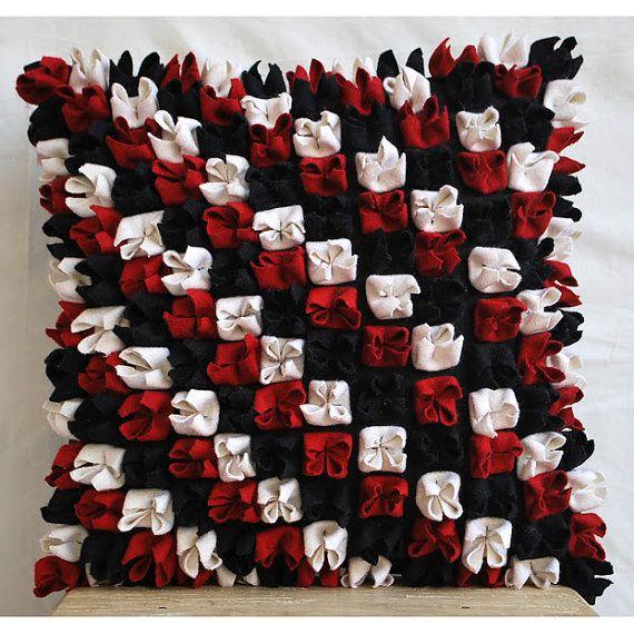 Luxury Red Pillows Cover 16x16 Felt Pillows