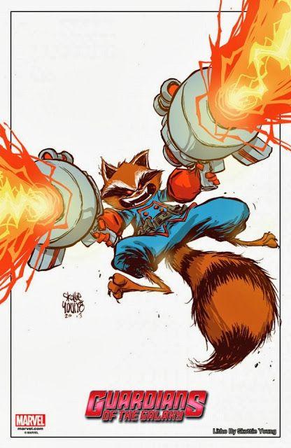 Rocket Raccoon by Skottie Young for New York Comic Con 2013