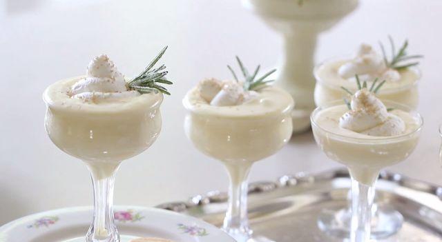 Goddelijke witte chocolademousse