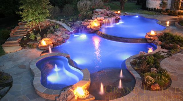 Residential firebowls 48 texas five windsor copper - Pool fire bowls ...