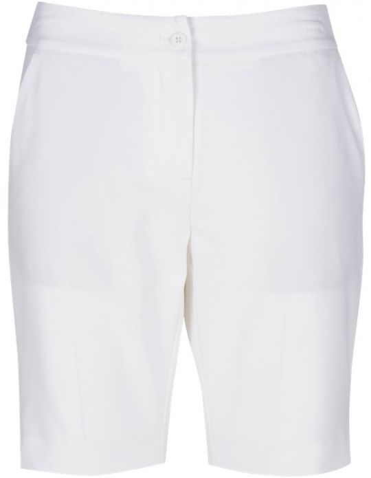 Essentials White Greg Norman Ladies ML75 Microlux Golf Shorts. Find the best ladies outfits at #lorisgolfshoppe