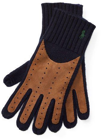 Polo Ralph Lauren Cashmere-Wool Tech Gloves