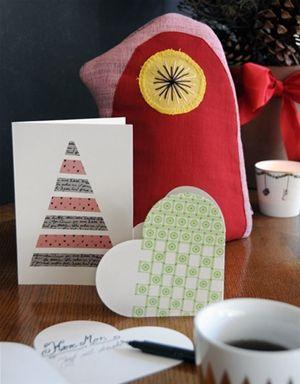 Hjemmelavede julekort med masking tape