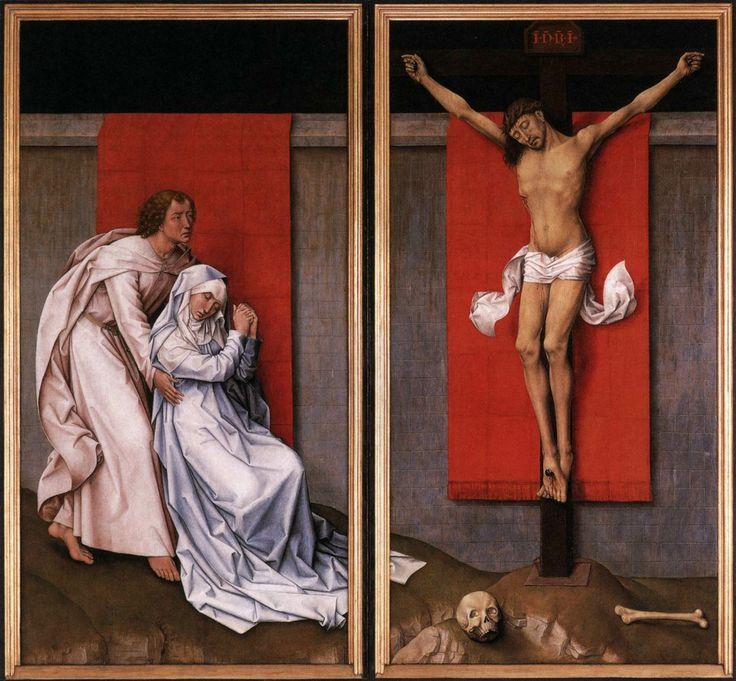 Rogier van der Weyden. Crucifixion Diptych (c. 1460). Oil on oak ...
