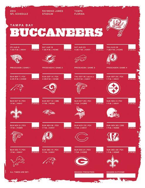 Tampa Bay Buccaneers 2014 NFL Schedule