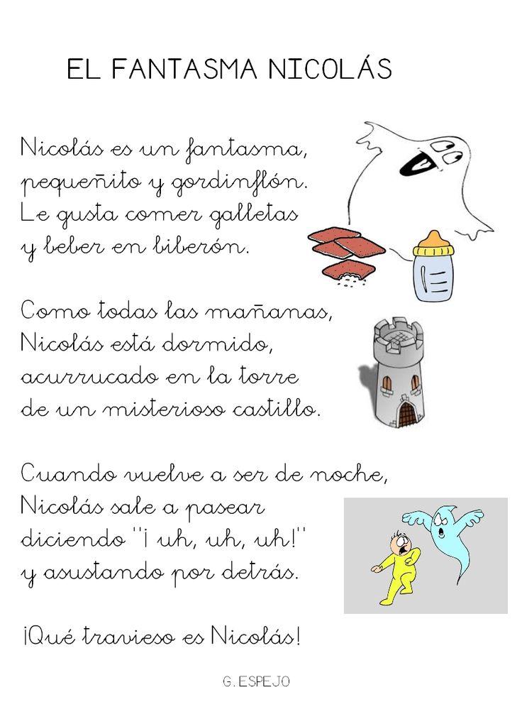 Poesía el fantasma Nicolás.