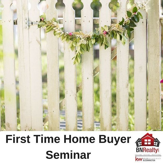 TODAY!  Calling All First-Time Homebuyers!! For those of you thinking about purchasing your first home, come on out to Keller Williams next Wednesday night from 6:00 -7:30!! Did we mention it's FREE? Dustin Wickenhauser with Prairie State Bank, Terry Prillaman with 1st Community Title and Sean Caldwell - Realtor with the BNRealty Team at Keller Williams Realty Bloomington-Normal will present and answer all of your questions.  So, if you're curious about the process, please join us for an…